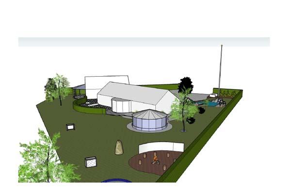 Haveplaner i 3 D - Murermestervilla med flot pavillon og skøn terrasse